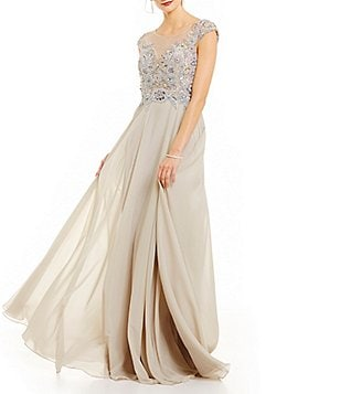 Terani Couture Beaded Bodice A-Line Gown