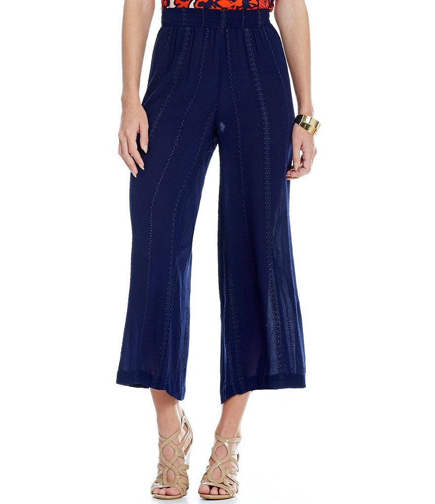 John Mark Wide Leg Crinkle Pants