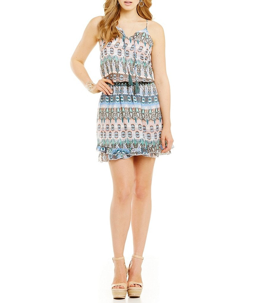Jessica Simpson Windsor Shadow-Stripe Dress
