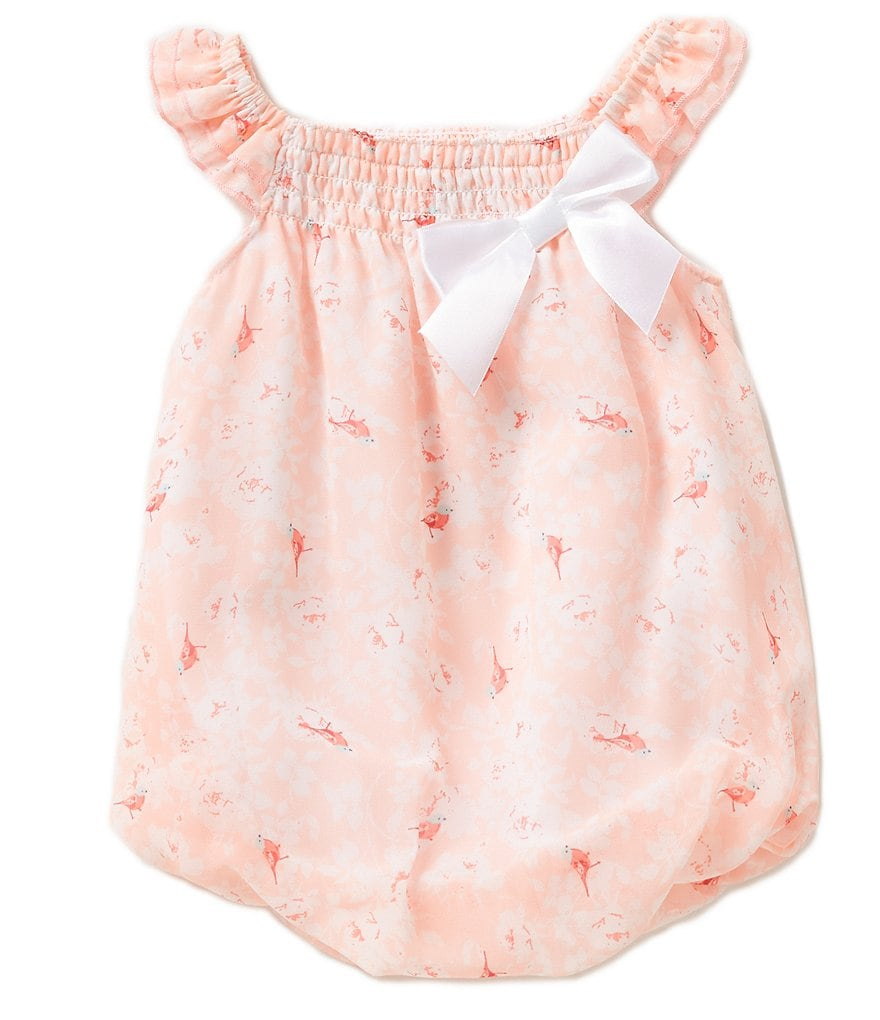 Starting Out Baby Girls Newborn-9 Months Bird Printed Bubble Coveralls