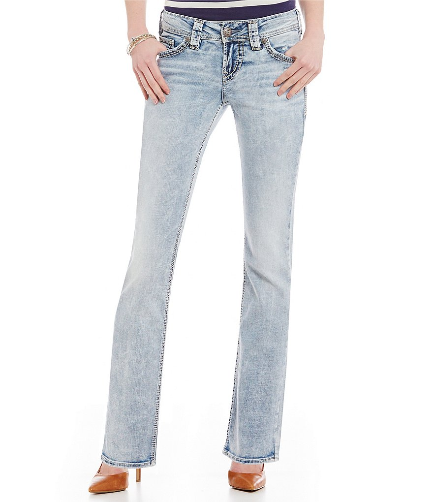 Silver Jeans Co. Suki Mid-Rise Baby Bootcut Jeans