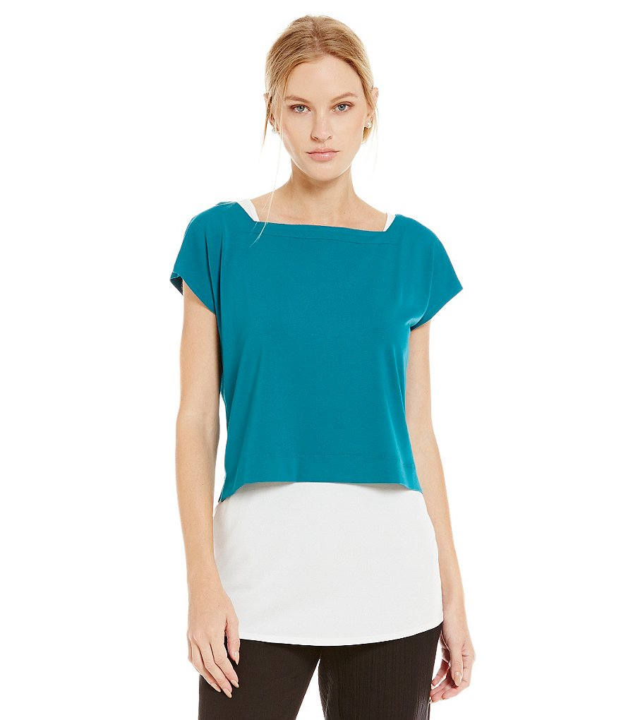 Eileen Fisher Square Neck Crop Top