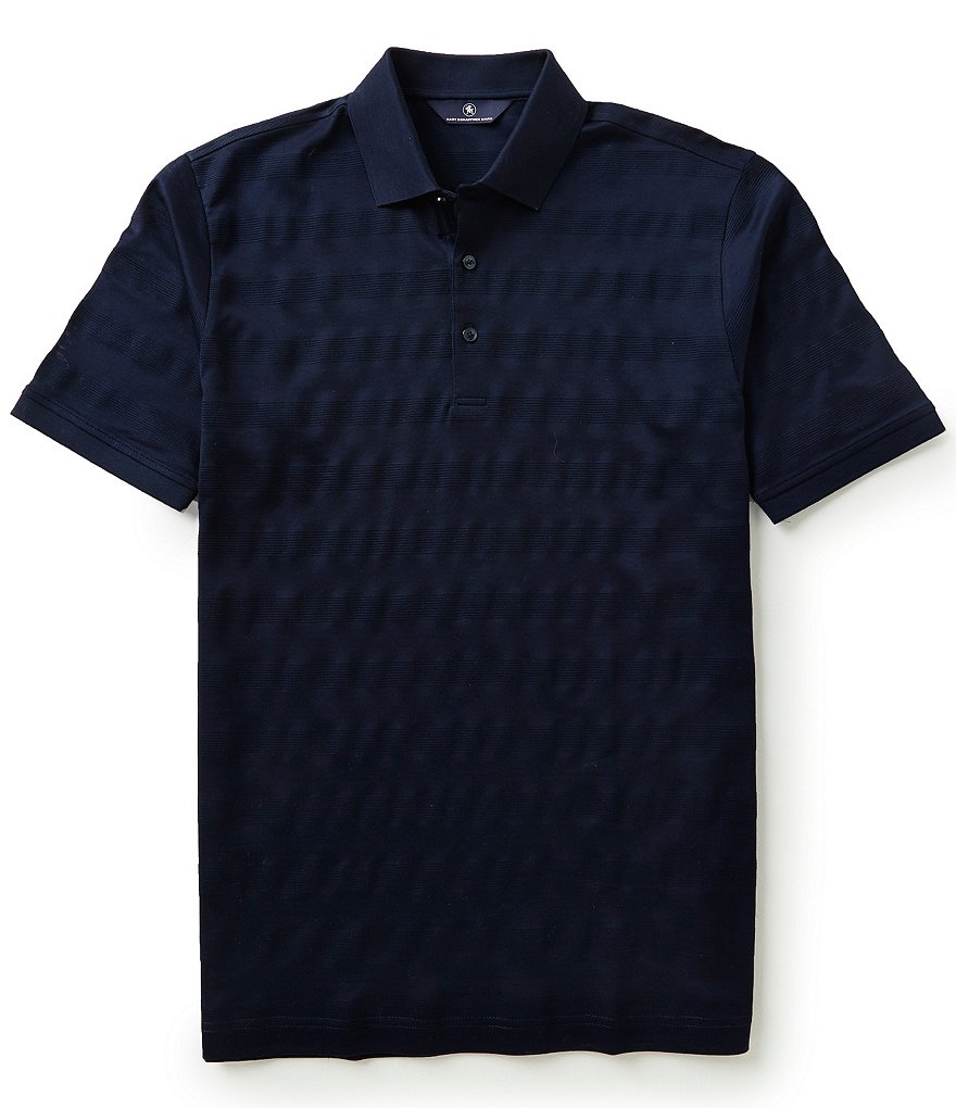 Hart Schaffner Marx Short-Sleeve Horizontal-Stripe Polo Shirt
