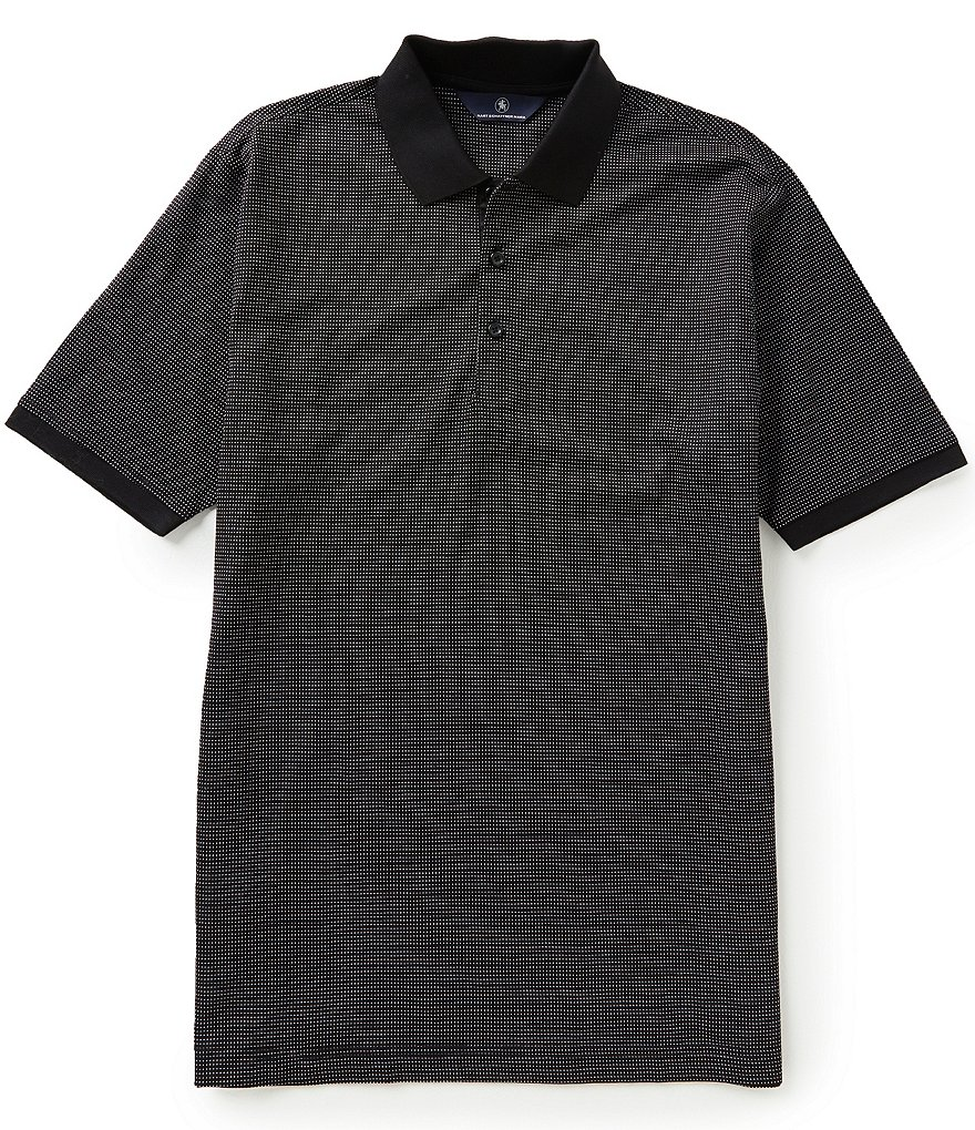 Hart Schaffner Marx Short-Sleeve Dot Jacquard Polo Shirt