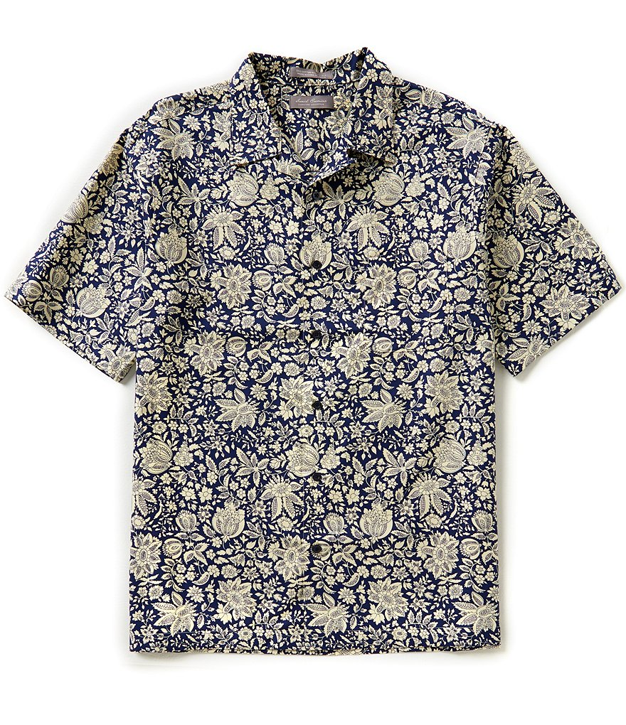 Daniel Cremieux Signature Repeating Floral Short-Sleeve Camp Shirt