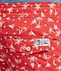 Color:Native Red - Image 4 - Polo Ralph Lauren Big & Tall Traveler Wakeboard-Print Swim Shorts