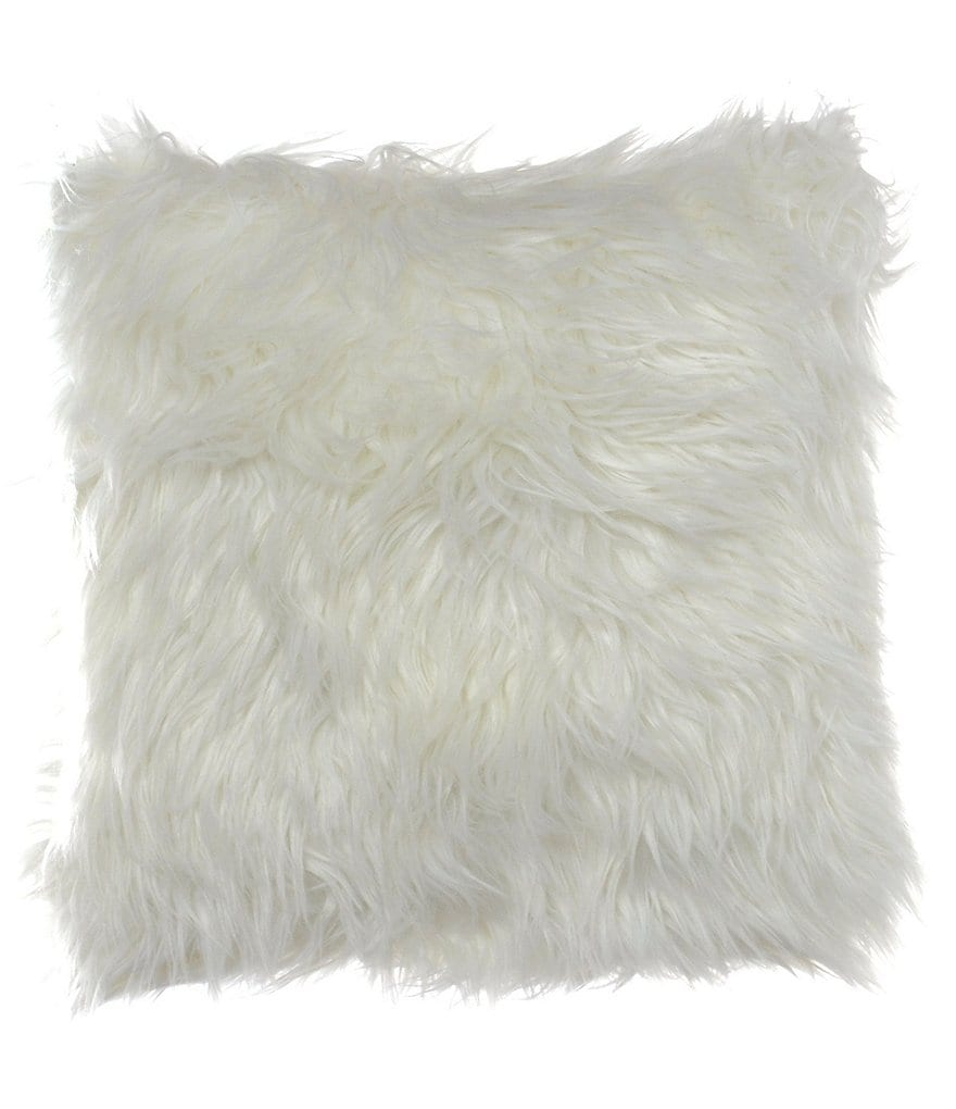 candice OLSON Faux-Fur Shag Square Pillow
