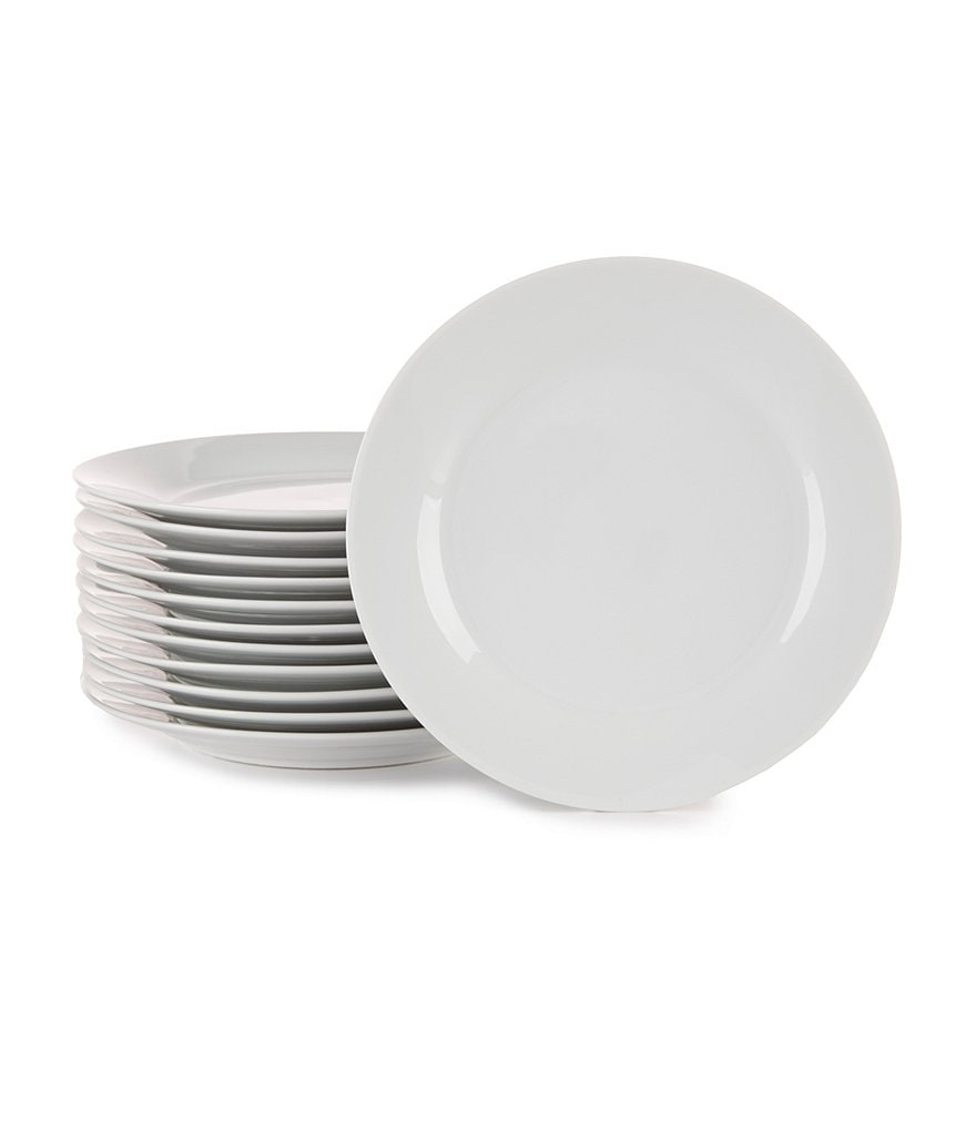 Noble Excellence Non-Slip Porcelain Appetizer Plates, Set of 12