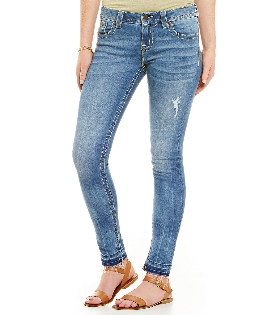 Miss Me Mid-Rise Distressed Skinny Jeans