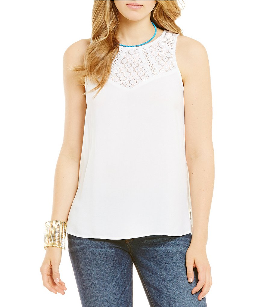 Guess Mixed-Lace Top