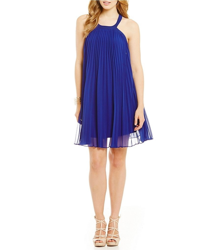 Guess Fiona Accordion-Pleated Dress