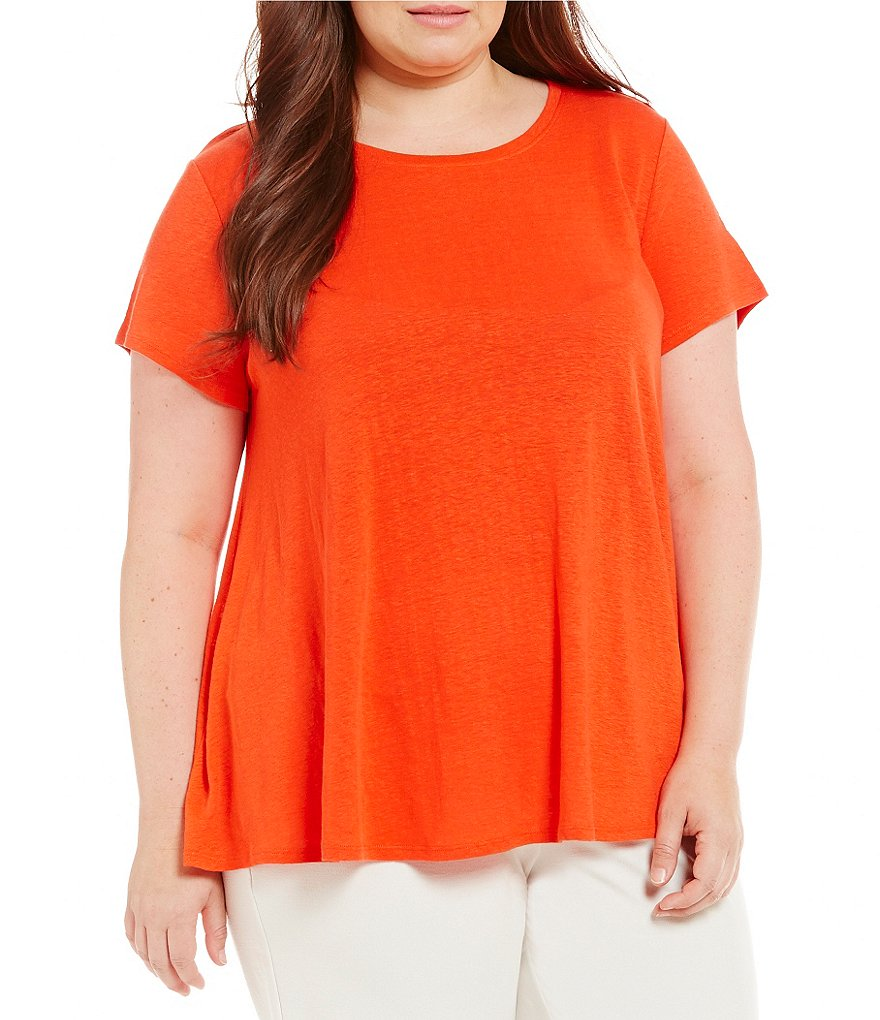 Eileen Fisher Plus Cap Sleeve Top