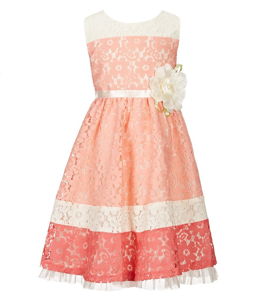 Rare Editions Little Girls 2T-6X Colorblock Lace Dress