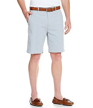 Cremieux Media Houndstooth Flat-Front Shorts