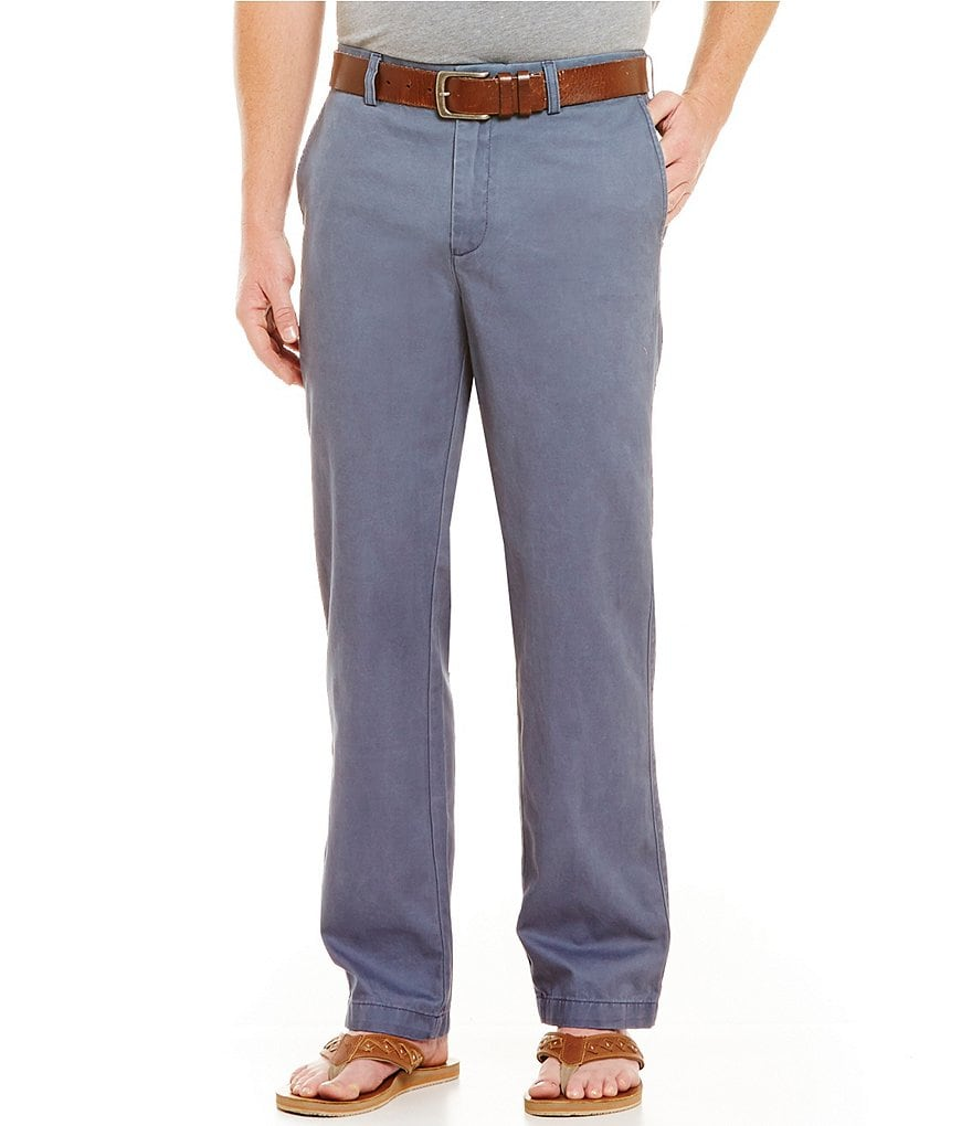Roundtree & Yorke Casuals Straight-Fit Flat-Front Chino Pants