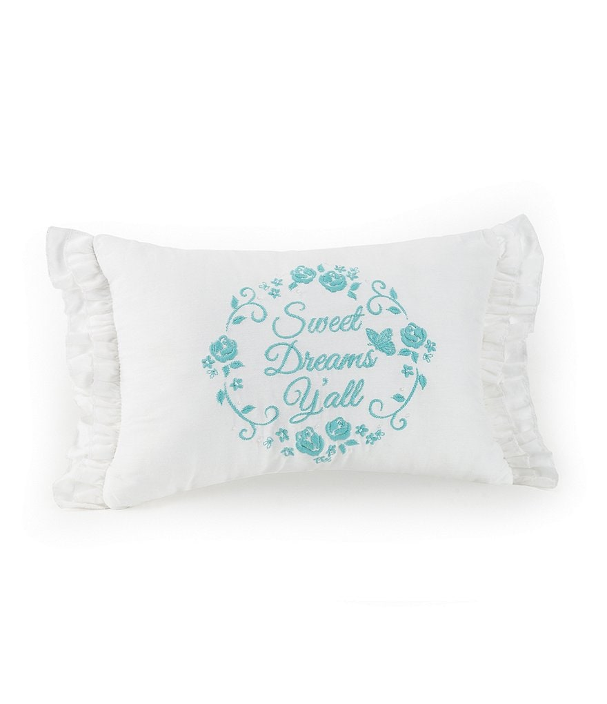 Jessica Simpson Elodie Sweet Dreams Y'all Ruffled Oblong Pillow