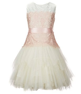 Chantilly Place Big Girls 7-16 Sleeveless Lace-Accented Dress