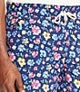 Color:Navy Chilmark - Image 3 - Polo Ralph Lauren Big & Tall Floral Traveler Swim Shorts