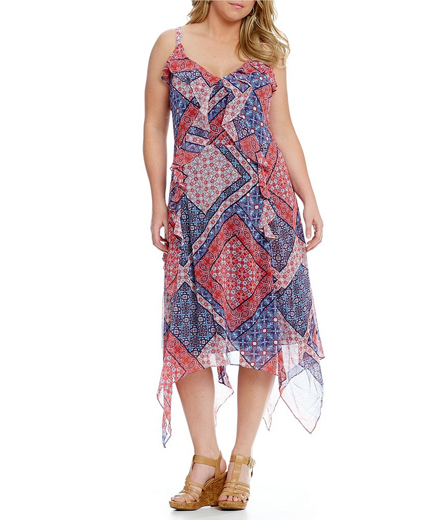 Jessica Simpson Valencia Plus Handkerchief Dress