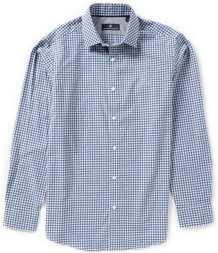 Hart Schaffner Marx Long-Sleeve Houndstooth Woven Shirt