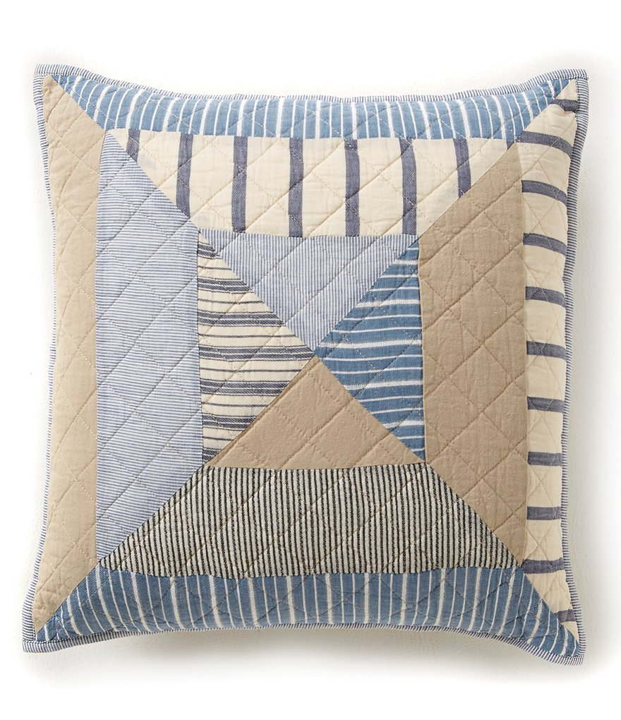 Cremieux Taylor Patchwork Flange Square Pillow