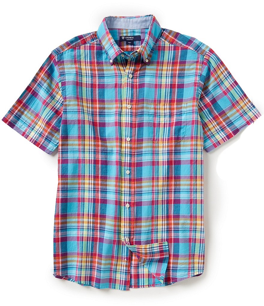 Cremieux Plaid Short-Sleeve Button-Down Shirt