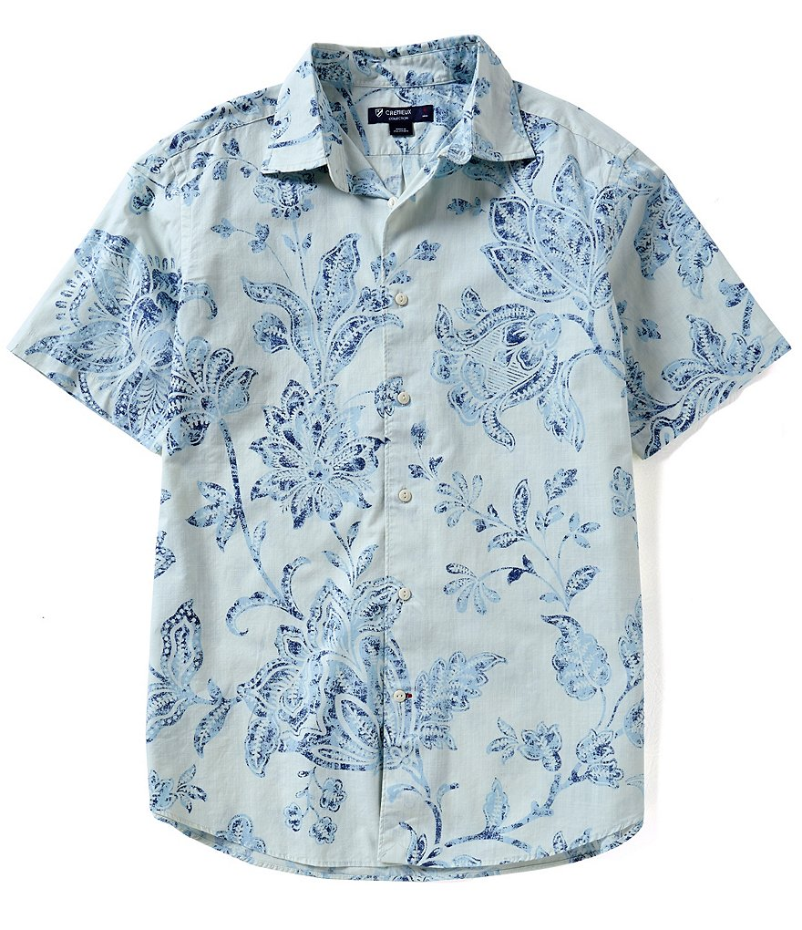Cremieux Vine-Print Button-Down Short-Sleeve Shirt