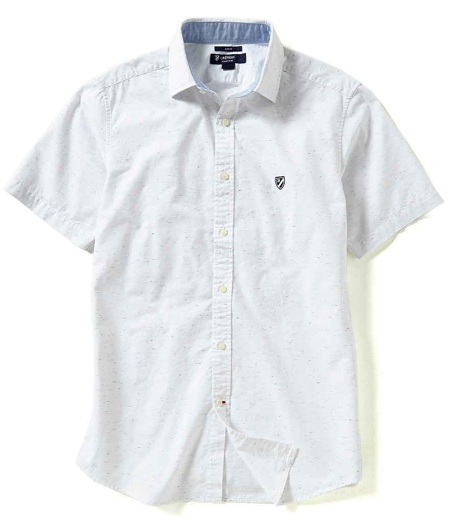 Cremieux Short-Sleeve Slim-Fit Woven Shirt