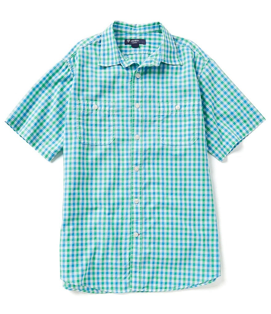 Cremieux Slub Checked Poplin Short-Sleeve Shirt