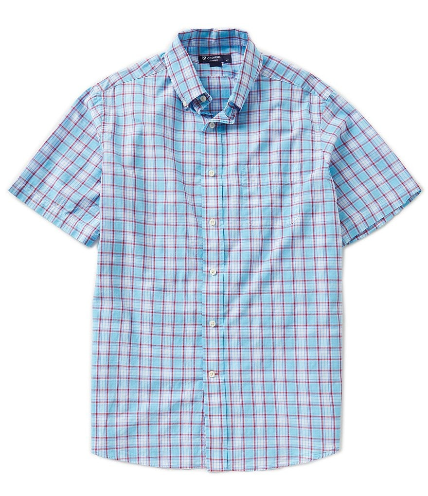 Cremieux Plaid Slub Short-Sleeve Shirt