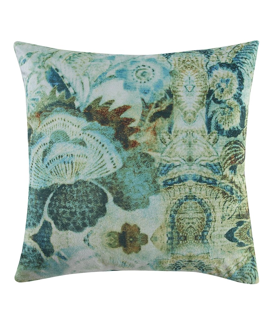 Poetic Wanderlust™ by Tracy Porter Chloe Bohemian Velvet & Faux-Silk Square Feather Pillow