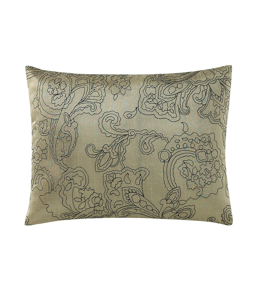 Poetic Wanderlust™ by Tracy Porter Chloe Floral Scroll-Embroidered Faux-Silk Oblong Pillow