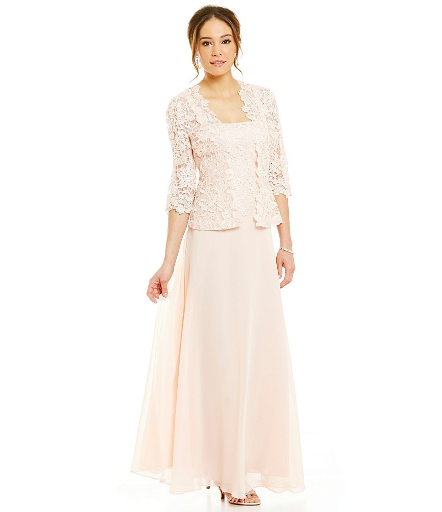 Emma Street Lace Chiffon Jacket Dress