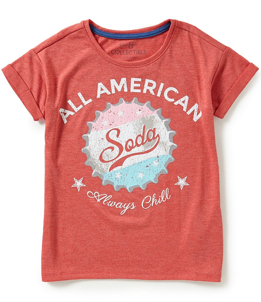 Jessica Simpson Big Girls 7-16 Ashlen All American Graphic Tee