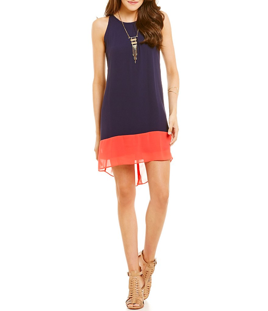 I.N. San Francisco Color Block Shift Dress