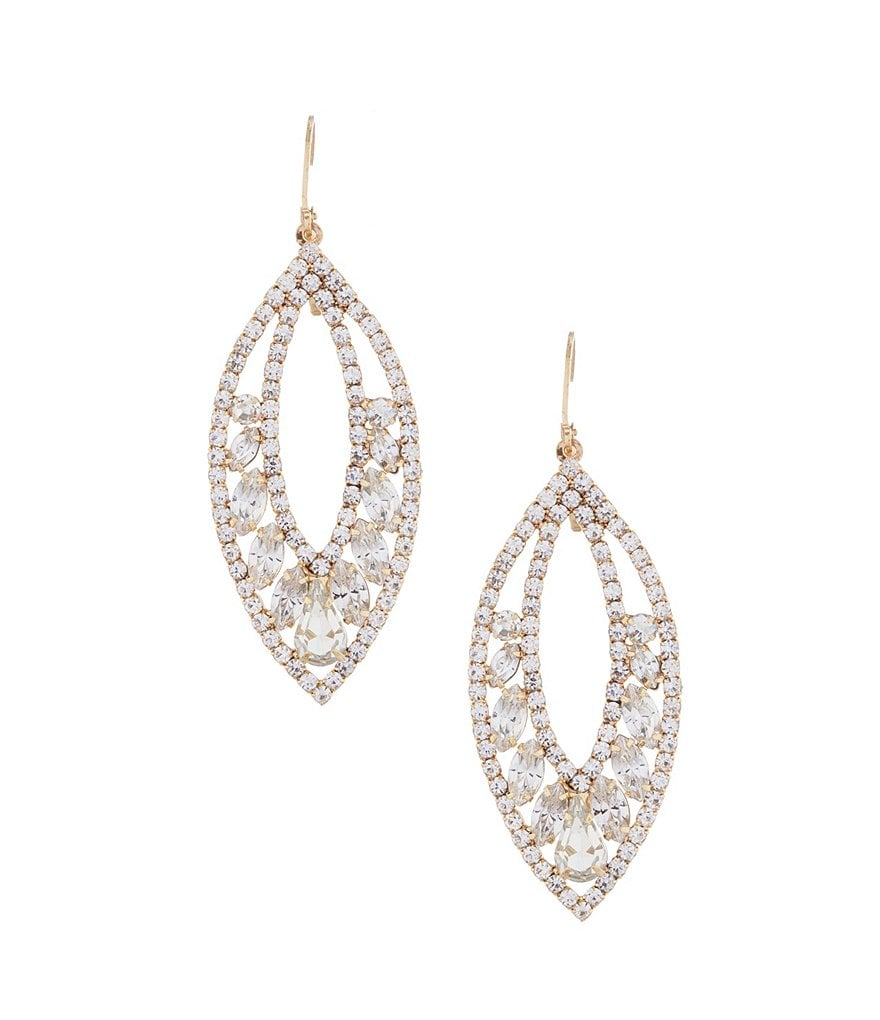 Belle Badgley Mischka Leaf Earrings