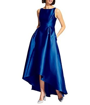 Adrianna Papell Petite Hi-Low Taffeta Gown