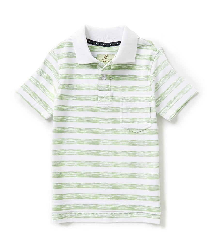 Class Club Little Boys 2T-7 Stripe Polo Shirt