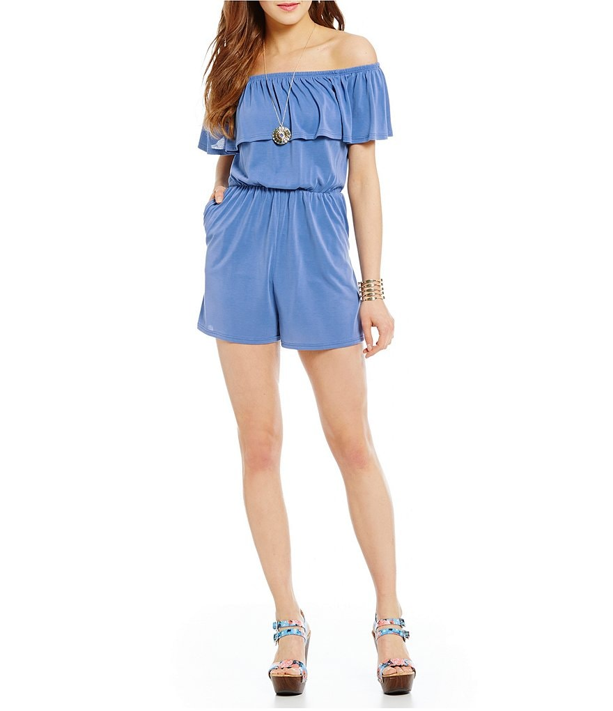 Soprano Off-The-Shoulder Romper