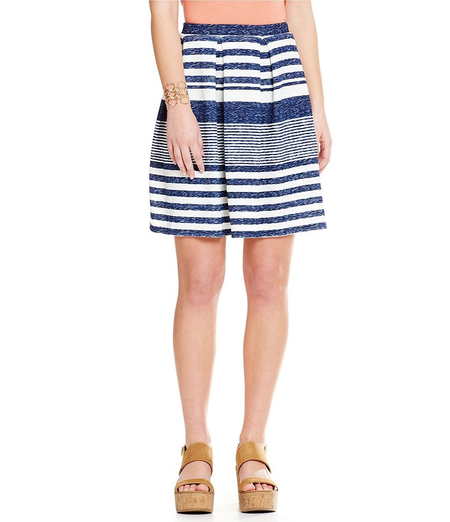 Soprano Variegated-Stripe Skirt