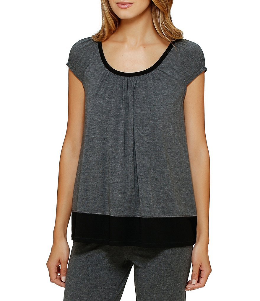 DKNY Jersey Scoop Neck Sleep Top