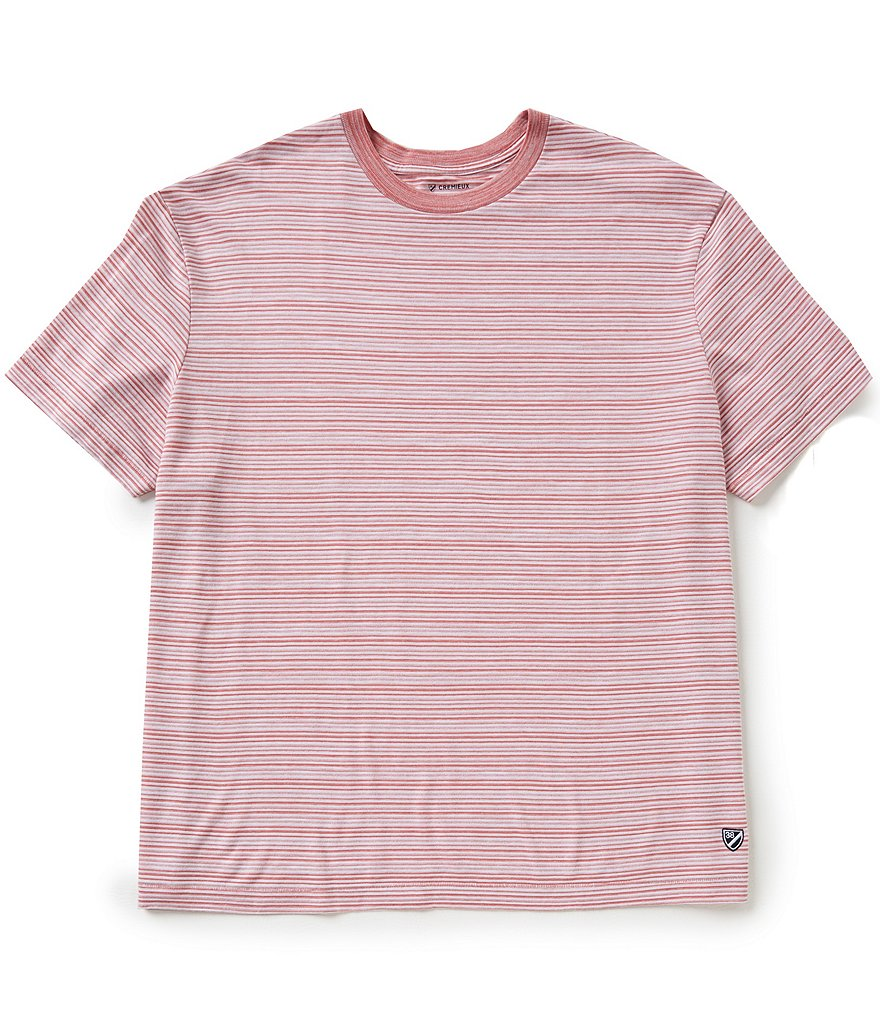 Cremieux Short-Sleeve Crewneck Horizontal Stripe Tee
