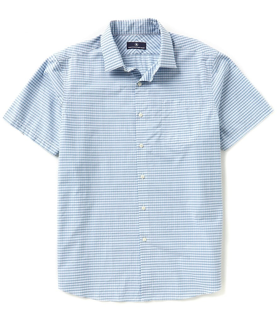 Hart Schaffner Marx Short-Sleeve Plaid Woven Shirt