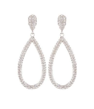 Cezanne Pav? Open Teardrop Earrings