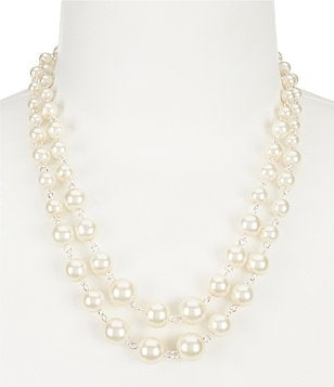 Cezanne Linked Pearls Multi-Strand Necklace