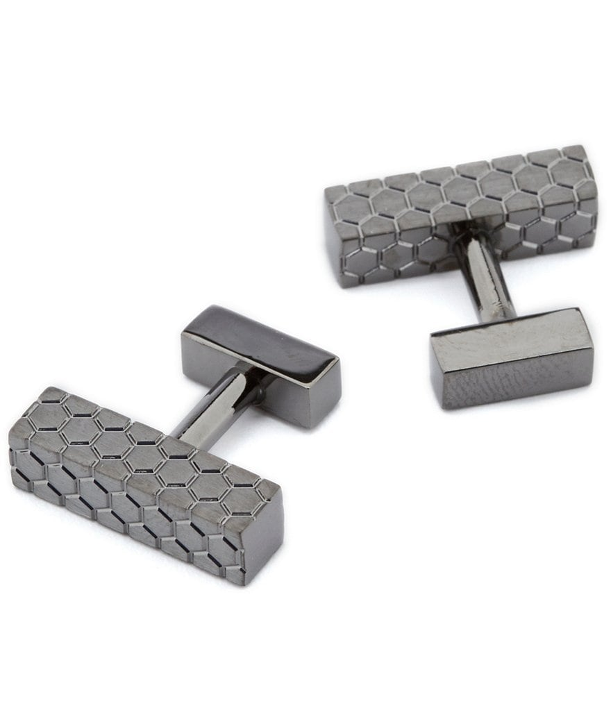 Kenneth Cole New York Textured Cube Cuff Links