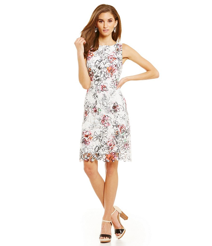 T Tahari Kensie Sleeveless Floral Dress