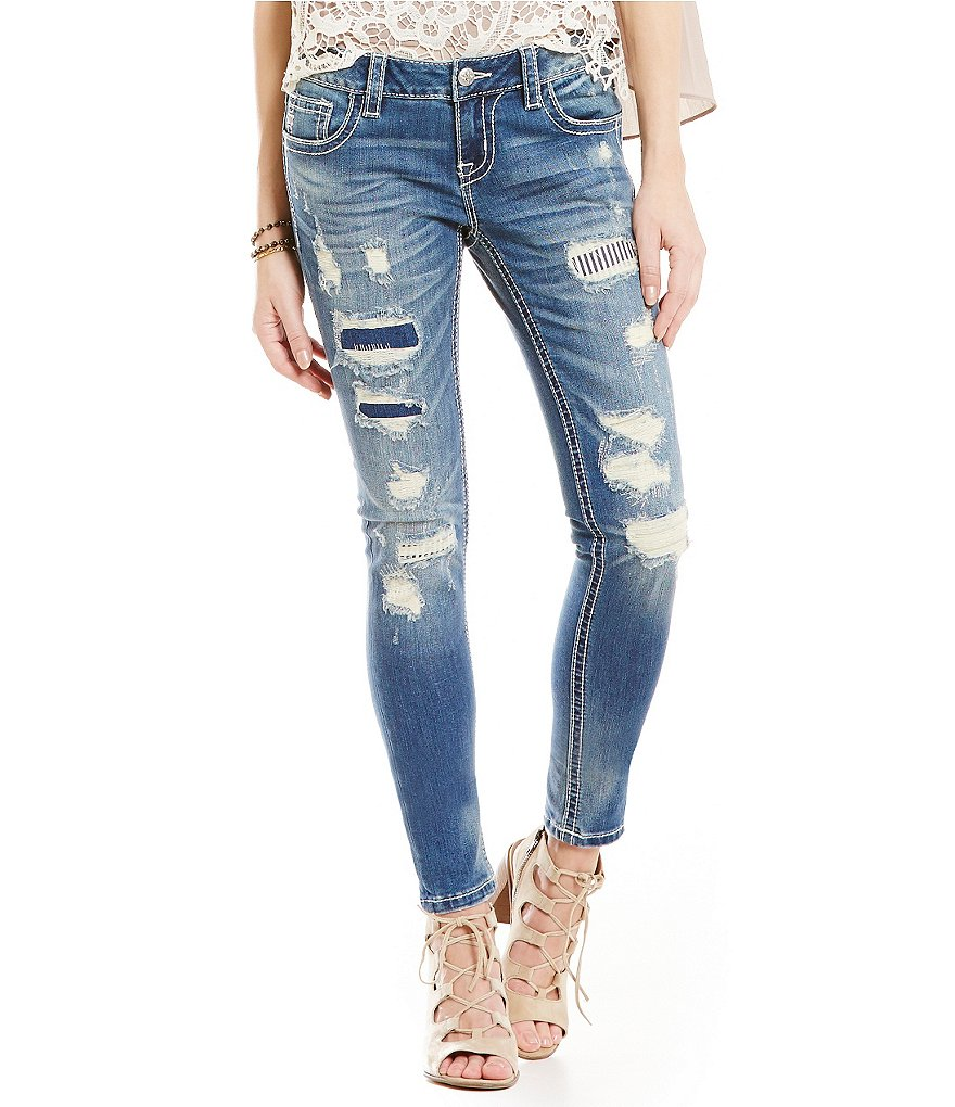 Miss Me Heavy Distressed Skinny Jeans