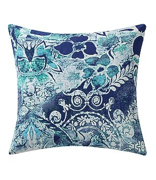 Poetic Wanderlust™ by Tracy Porter Astrid Floral Velvet & Faux-Silk Square Feather Pillow