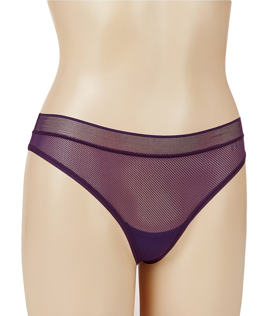 DKNY Signature Scribble Lace Thong Panty